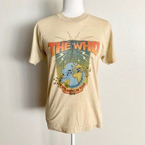 Vintage 1979 The Who North American Tour Cream Tee